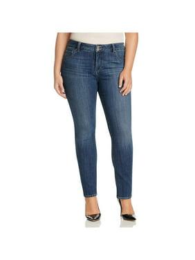 Lucky Brand Womens Plus Emma High Rise Denim Straight Leg Jeans