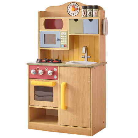 Teamson Kids Little Chef Florence Classic Play Kitchen - Wood Grain