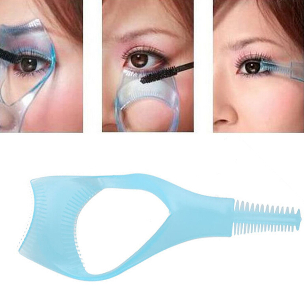3 In 1 Portable Eyelash Brush Curler Lash Comb Easy to Use