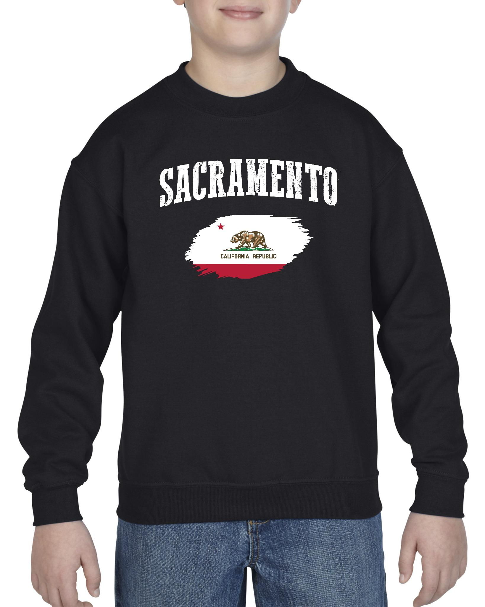 Sacramento California Youth Crewneck Sweatshirt