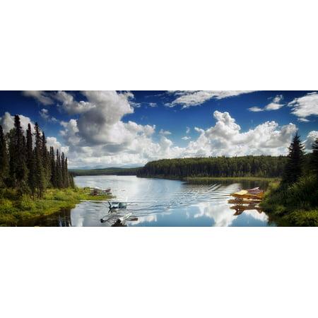 LAMINATED POSTER Alaska Water Reflections Fish Lake Talkeetna Poster Print 24 x 36