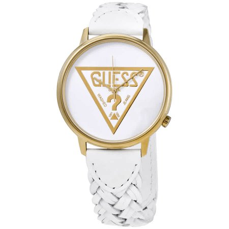 Guess Originals Logo Quartz White Dial Ladies Watch V1001M4 Guess Logo Dial Watch