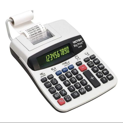 VICTOR 1310 Commercial Calculator, Printing, 9-1/2in.L