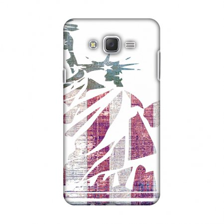 Samsung Galaxy J7 SM-J700F Case - Statue of liberty- USA flag, Hard Plastic Back Cover, Slim Profile Cute Printed Designer Snap on Case with Screen Cleaning Kit