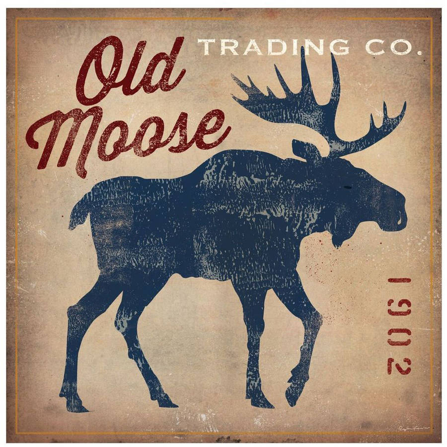 Old Moose Trading Co.Tan by Eazl Premium Gallery Wrap