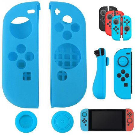 Silicone Protective Nintend Switch Joycon Skin Cover For Nintendos Switch Games Controller With Joystick Grip Caps Moderate Price Consumer Electronics Video Games