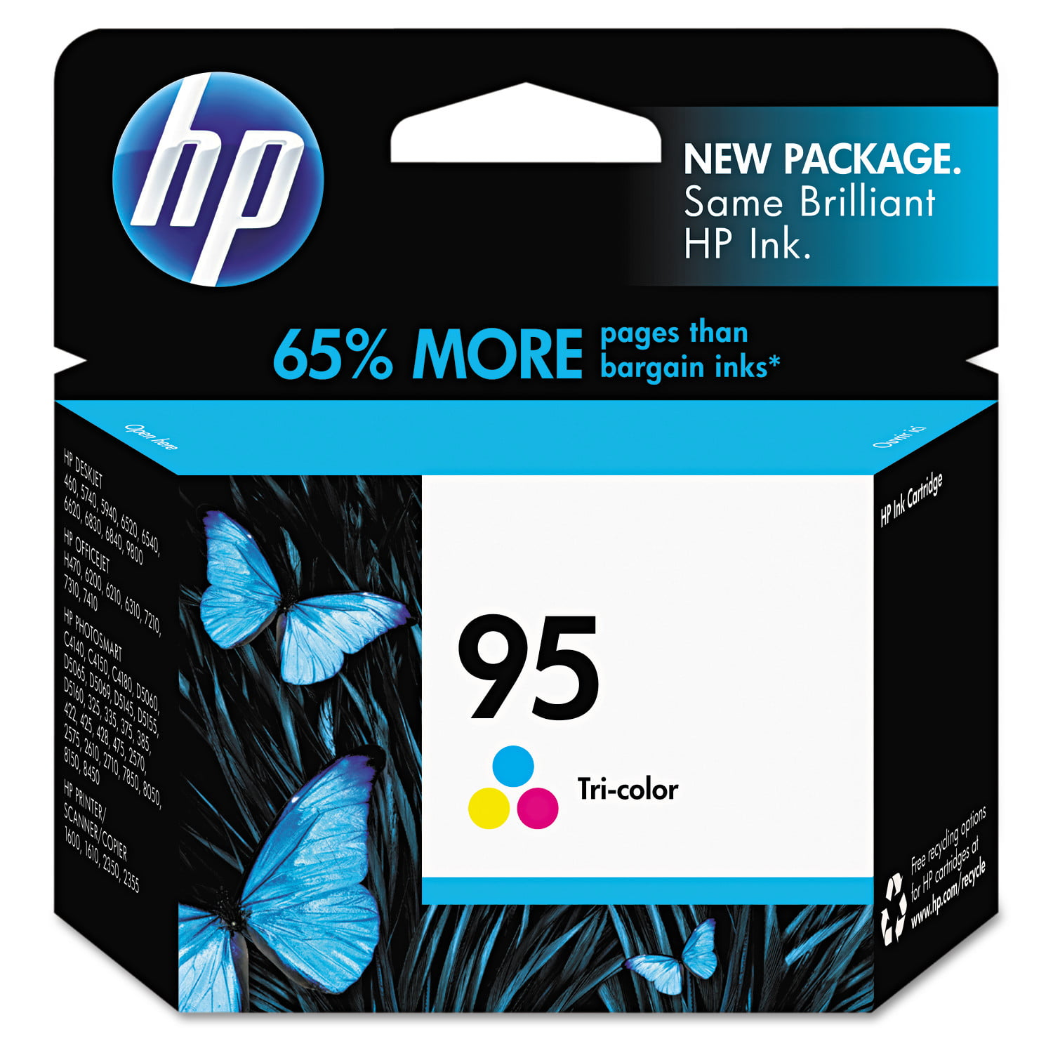 HP 95, (C8766WN) Tri-color Original Ink Cartridge by HP