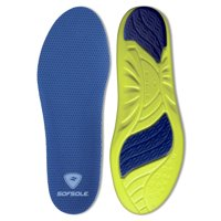 sof sole athlete full length comfort neutral arch comfort insole, women's size 5-7.5