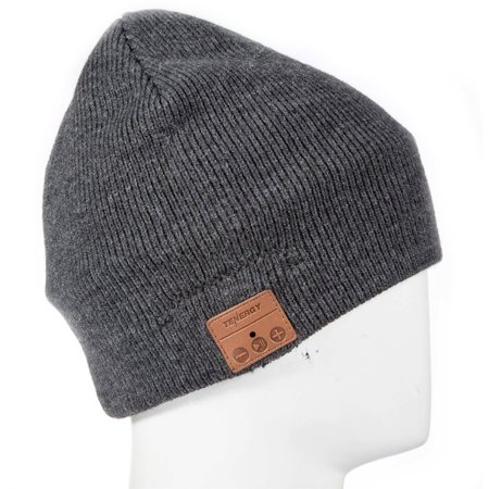 Tenergy 52403 Bluetooth Basic Knit Beanie, Charcoal