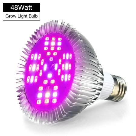Pathonor Led Grow Light Bulb 48w Full Spectrum Grow Bulbs