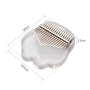 Muslady 17-Key Kalimba Thumb Piano Transparent Acrylic Material with Carry Bag Musical Note Stickers Tuning Hammer Cleaning Cloth Musical Gift
