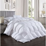 InGarden All Season Ultra-Soft Luxury 1800 Series 75% Down Comforter Duvet Insert with Tabs Washable and Hypoallergenic,White-Twin