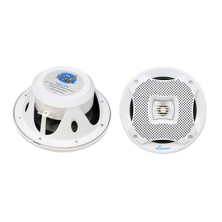 Lanzar AQ6CXW - 400 Watts 6.5'' 2-Way Marine Speakers (White