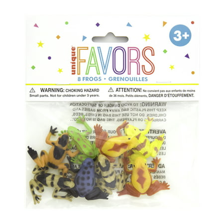 Plastic Frog Party Favors, Assorted, 8ct - Plastic Sunglasses Party Favors