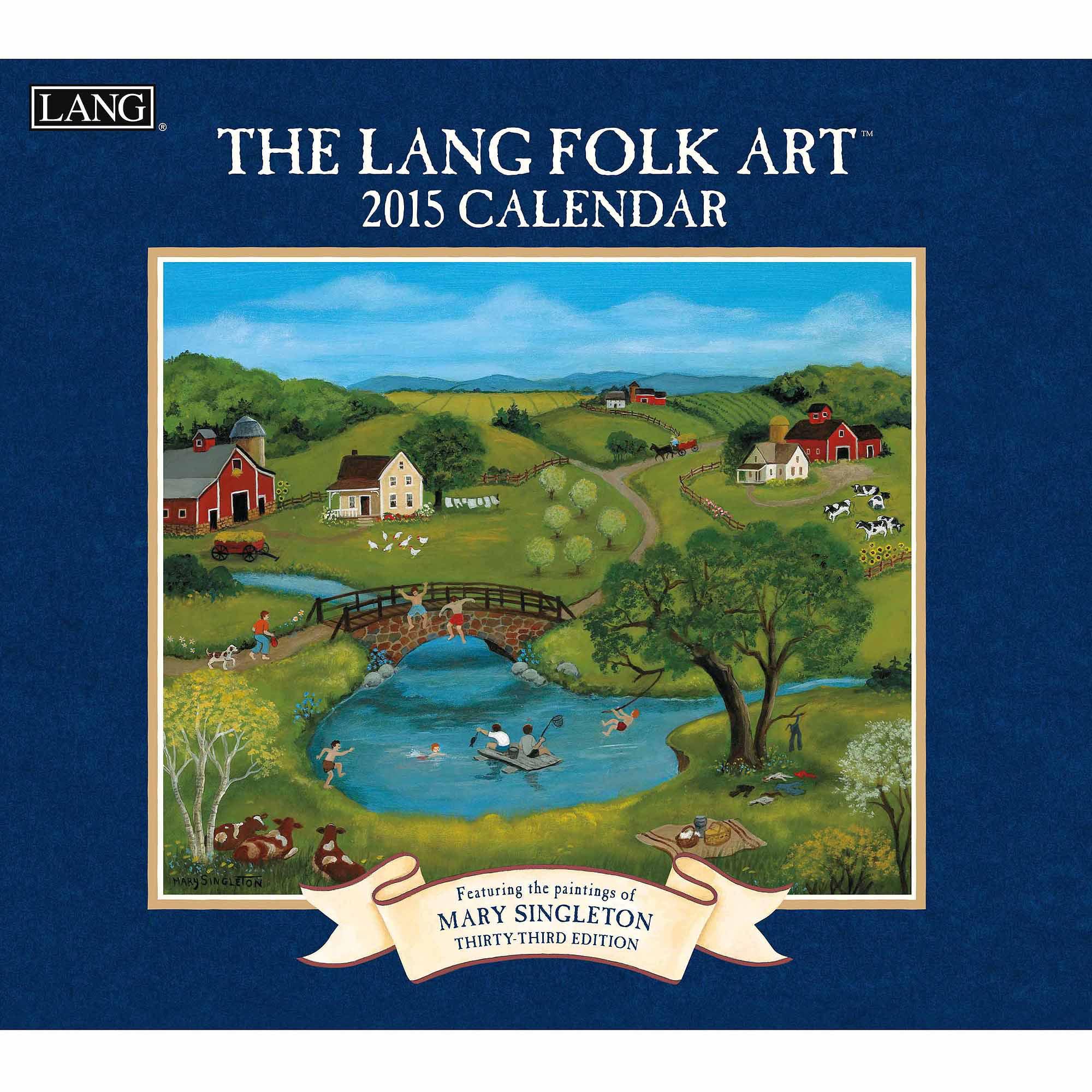 """""""Lang Folk Art"""" 2015 Wall Calendar"""