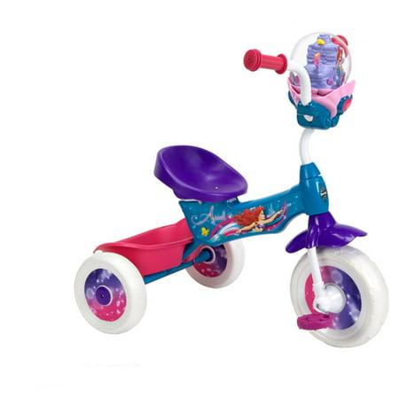 Huffy Disney Little Mermaid Girls Folding Trike With Bubble Maker