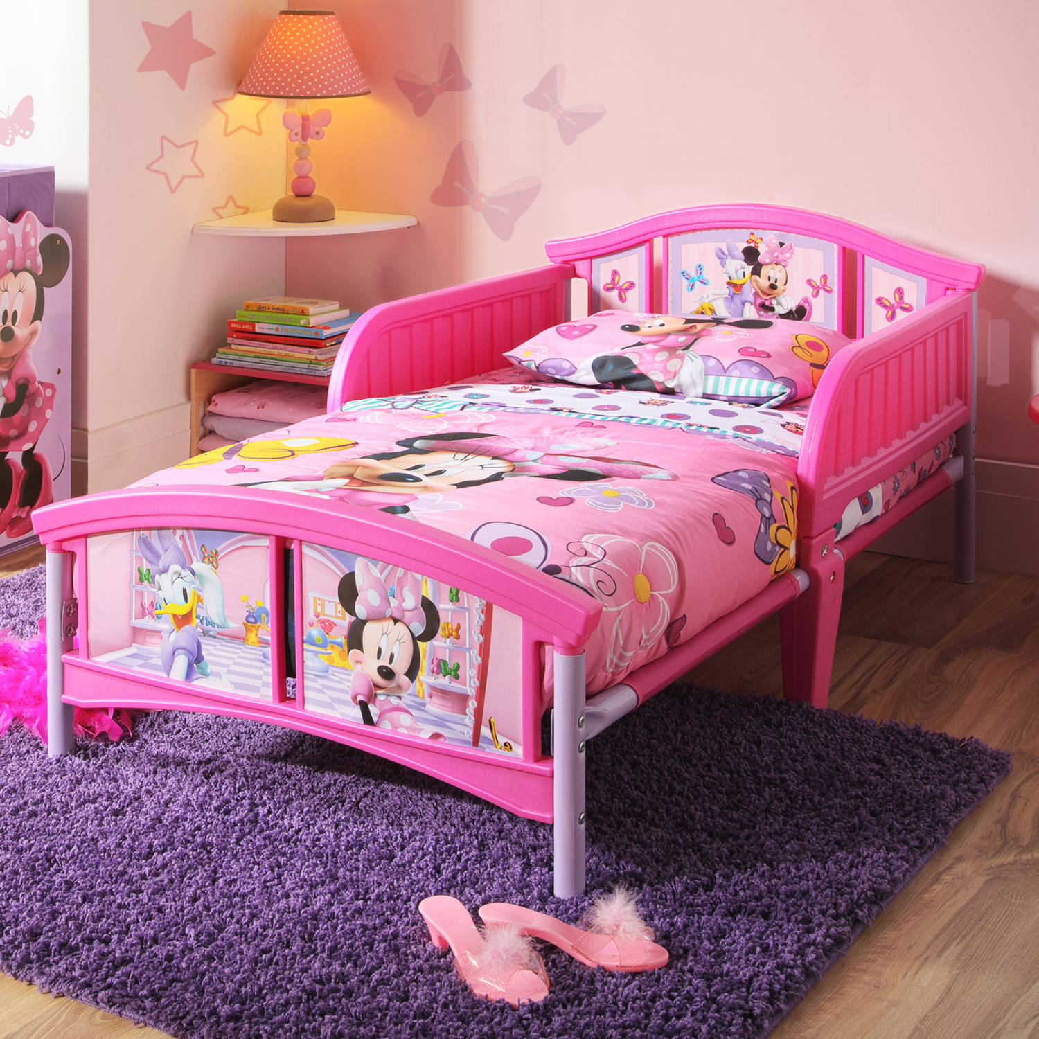 Disney Minnie Mouse Plastic Toddler Bed 829378472253