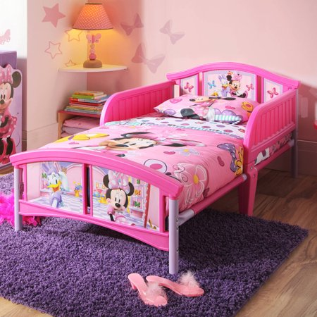 Disney minnie mouse bedroom set with bonus toy organizer Plastic bedroom furniture