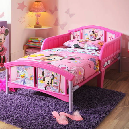 Disney Minnie Mouse Bedroom Set with BONUS Toy Organizer - Walmart.com