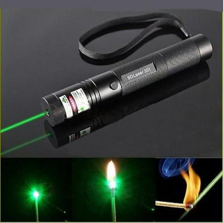 G301 Adjustable Focus Burn 5mw 532nm Green Laser Pointer Pen Lazer Visible (5 Mw Green Laser Pen)