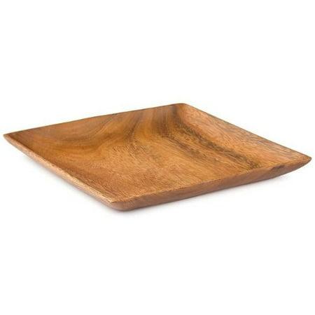 Acacia Wood Square Plate 1