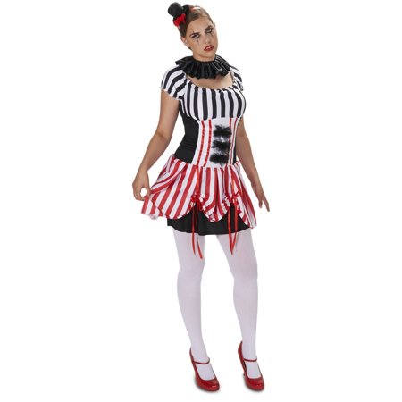 Carn-Evil Vintage Striped Dress Women's Adult Halloween Costume