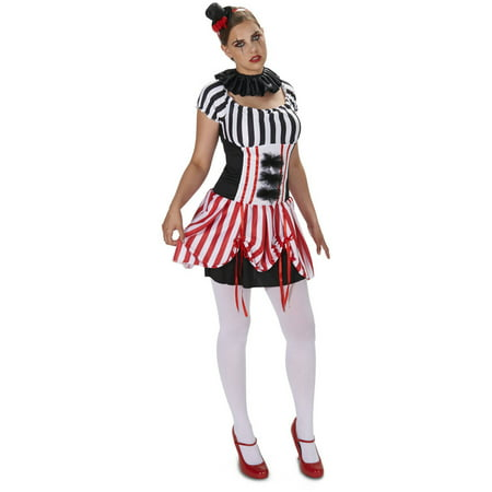 Carn-Evil Vintage Striped Dress Women's Adult Halloween Costume - Halloween Costume Vintage