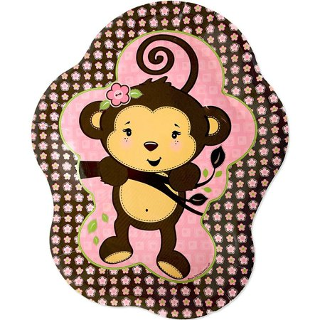 Monkey Girl - Party Dinner Plates (8 count) - Money Themed Party