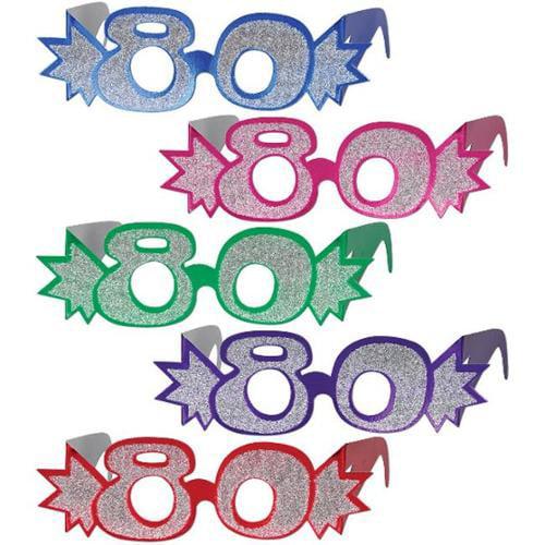 Bulk Buys 80 Glittered Foil Eyeglasses -Pack of 75