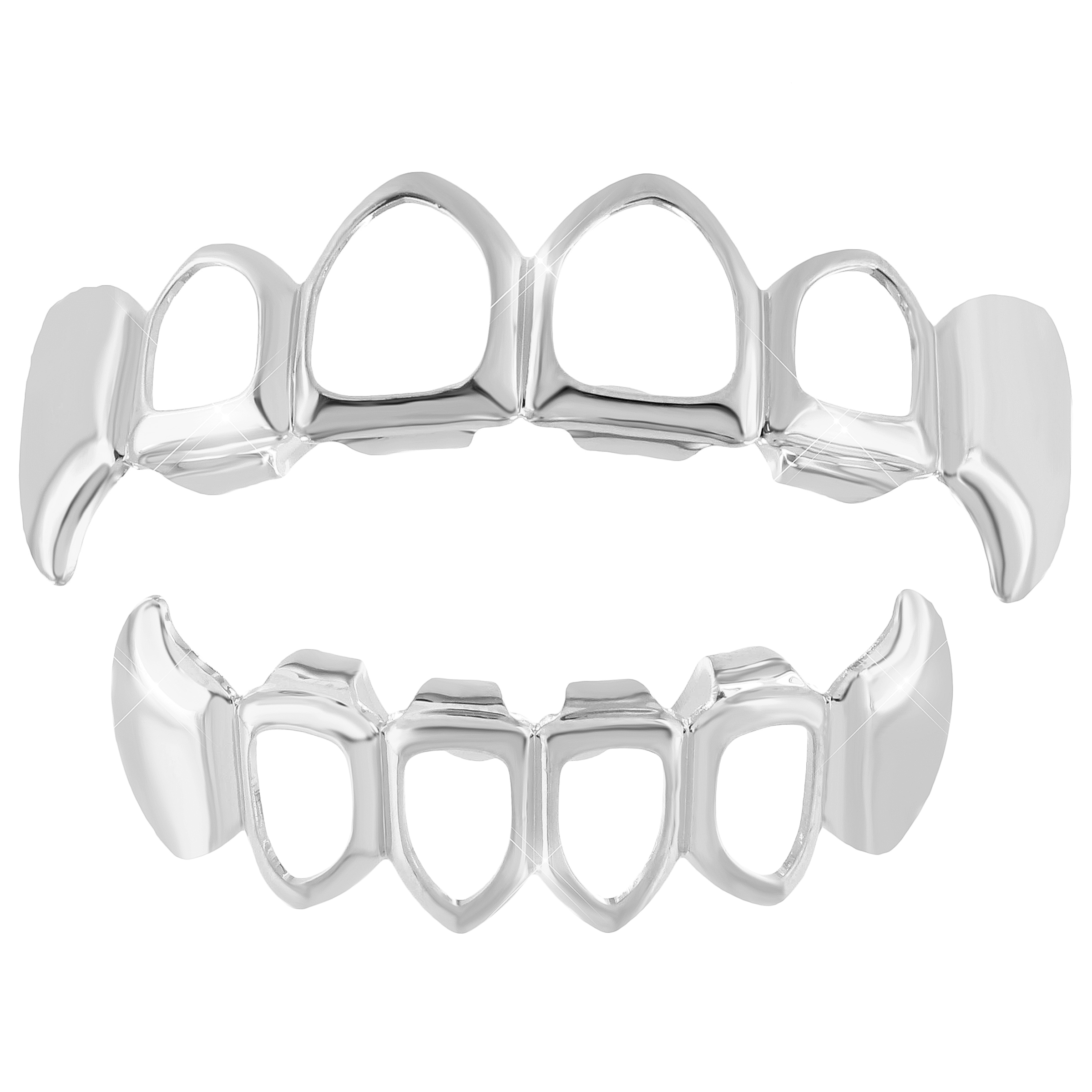 master of bling 14k white gold plate open face top bottom grillz Pickup Canopy Window master of bling 14k white gold plate open face top bottom grillz set tooth caps custom fit walmart