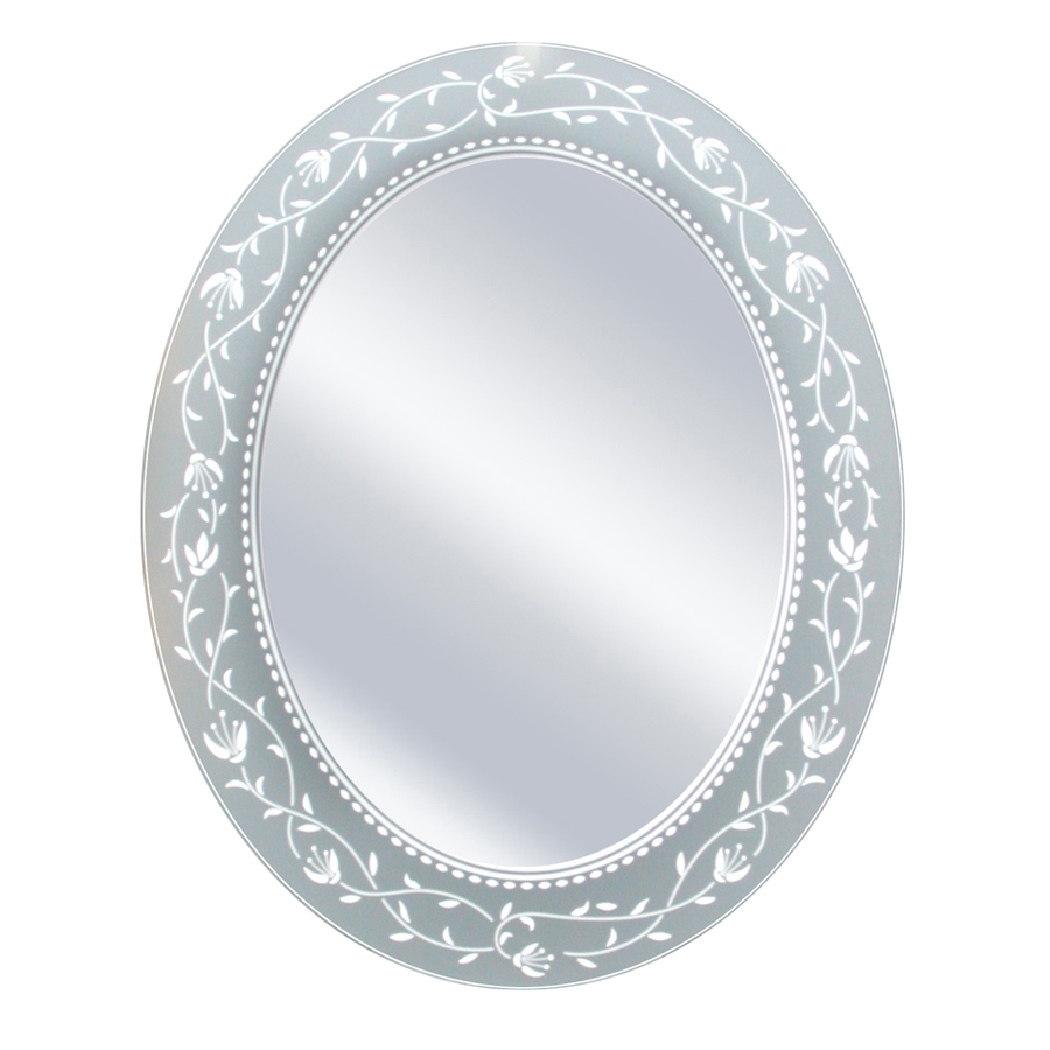 Headwest Inc Headwest Fushcia Oval Wall Mirror - Off White - 23 X 29