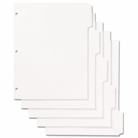 Skilcraft Loose Leaf Binder Index Sheet Set   100 X Divider   8 5  X 11    1 Pack   White Divider   White Tab  Nsn9594441