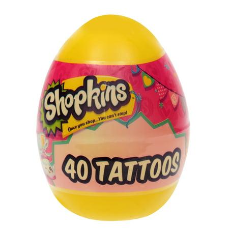 Shopkins Jumbo Plastic Egg with Tattoos (Jumbo Plastic Egg)