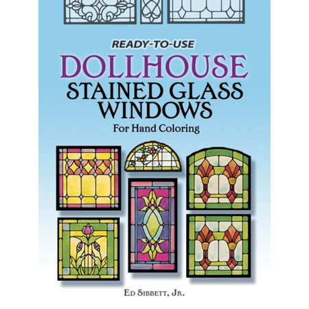 Ready to Use Dollhouse Stained Glass Windows ()