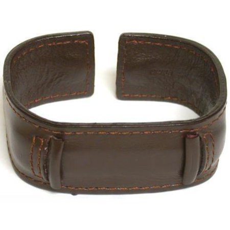 Leather Cuff Band - Brown Leather Wide Cuff Watch Band