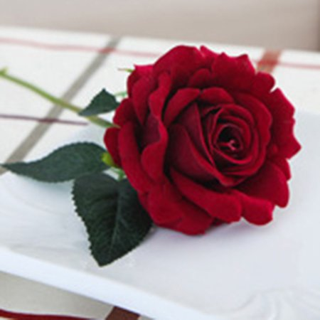 Holiday Clearance Plastic Fabric Silk Artificial Rose Flower Arrangement for Wedding Home -