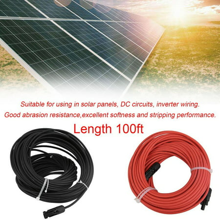 Hot Sale 1 Pair MC4 Solar Panel Extension Connector 10 AW...