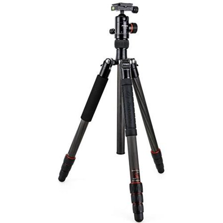 FotoPro X-Go Plus 4-Section Carbon Fiber Tripod with Built-In