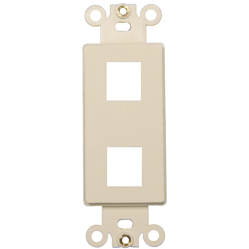 Morris Products Two Port Decorator Wall Plate in Light Almond (Set of 4)