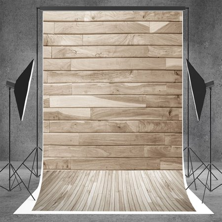 MOHome Polyster 5x7ft Photography Backdrops Wood Style Photo Idea Backgrounds for Photographers Party Photo Booth Props (Ideas For Booths)
