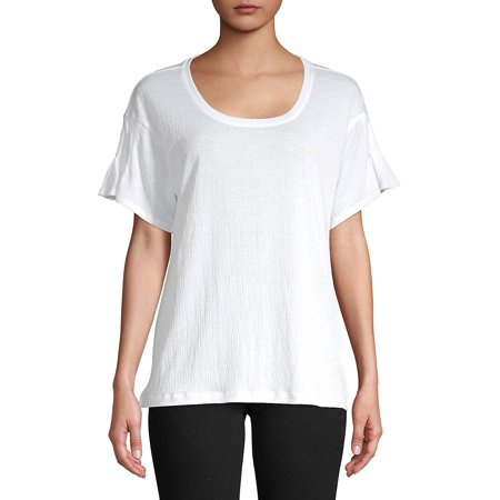 Pleated-Sleeve Tee