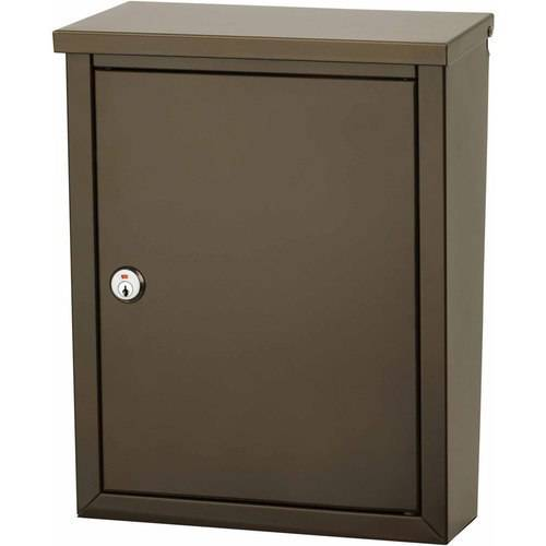 Architectural Mailboxes Chelsea Locking Wall Mount Mailbox, Black by Architectural Mailboxes