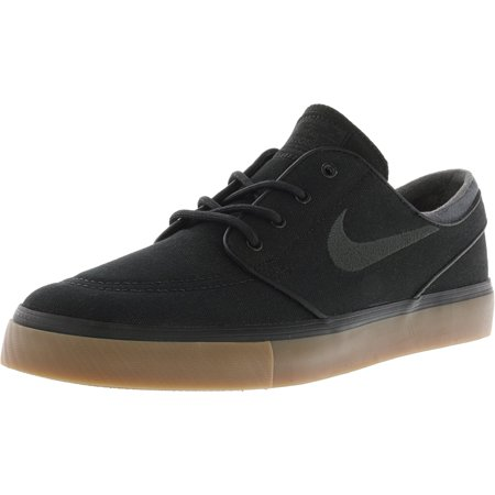 7faeccdde483ec Nike Men s Zoom Stefan Janoski Black   Anthracite-Gum Medium Brown Canvas  Skateboarding Shoe - 13M - Walmart.com