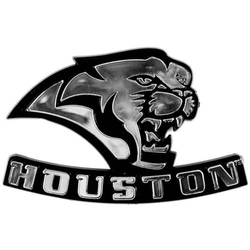 NCAA Houston Cougars Chrome Automobile Emblem