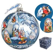 GDeBrekht 73852 5.5 in. Limited Edition Snow Queen Glass Ball Ornament, Extra Large
