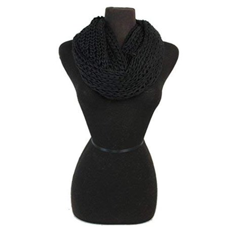 Fashion Secrets Women Crochet Softness Infinity Scarf Wrap for Winter (Crochet Scarf Kit)