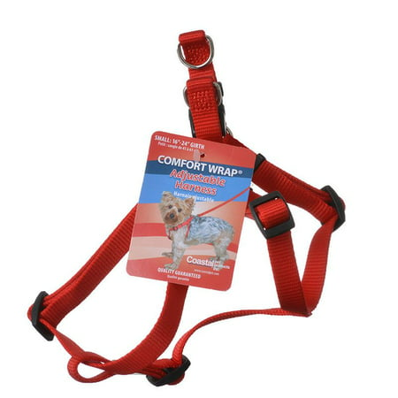 Tuff Collar Nylon Adjustable Comfort Harness - Red Small (Girth Size