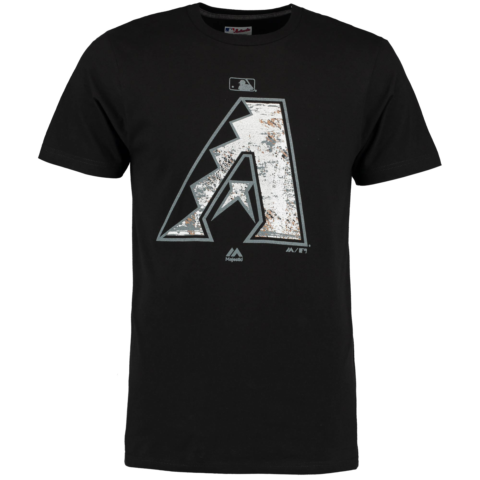 Arizona Diamondbacks Majestic Authentic Collection Clubhouse Fashion Foil T-Shirt - Black