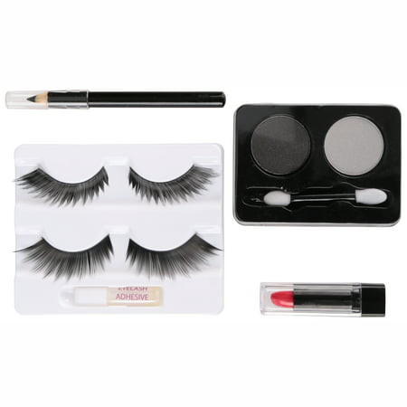 Fun World® Cat Eyes Makeup Kit 9 pc Carded Pack - Cat Halloween Eye Makeup