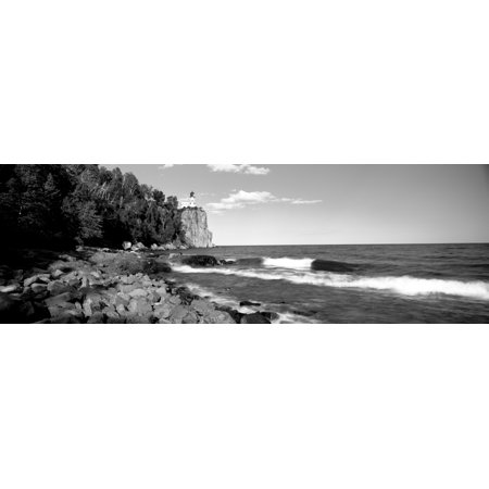 Lighthouse on a cliff Split Rock Lighthouse Lake Superior Minnesota USA Canvas Art - Panoramic Images (6 x (Lake Superior Lighthouses)